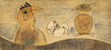 Composition in Ochre Collectable Print by Max Ernst