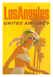 Los Angeles - United Air Lines Giclee Print by Stan Galli
