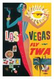 Las Vegas, Nevada - Trans World Airlines Fly TWA, 1958 Giclée-Druck