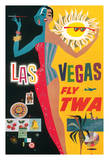 Las Vegas, Nevada - Trans World Airlines Fly TWA, 1958 Giclee Print