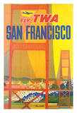 San Francisco - Trans World Airlines Fly TWA - Golden Gate Bridge Giclee Print