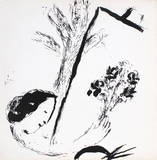 Bouquet with Hand Collectable Print by Marc Chagall