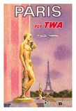 Paris, France - Trans World Airlines Fly TWA Giclee Print