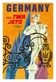 Germany - Trans World Airlines Fly TWA Jets - Gansemannchen Fountain of Nuremberg Giclee Print