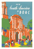 Fly to South America by BOAC - British Overseas Airways Corporation Giclee Print by E.O. Seymour