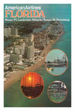 Florida - Miami Ft. Lauderdale Orlando Tampa St Petersburg - American Airlines Giclee Print