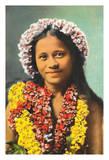 Hawaiian Hula Girl Giclee Print