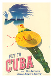 Fly to Cuba - Pan American World Airways System (PAA) - Holiday Isles of the Tropics Giclee Print by Julius Seyler