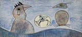 Composition in Blue Collectable Print by Max Ernst