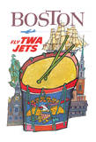Boston, Massachusetts - Trans World Airlines Fly TWA Jets Giclee Print