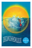 Hawaii - Pan American Airlines (PAA) - Hawaiian Surfer Giclee Print