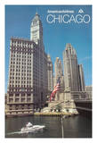 Chicago, Illinois - American Airlines Giclee Print