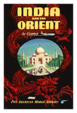 India and the Orient by Clipper - Pan American World Airways (PAA) Giclee Print