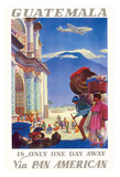 Guatemala Is Only One Day Away - Pan American World Airways (PAA) Giclee Print by Paul George Lawler