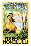 1915 Mid-Pacific Carnival - Honolulu, Hawai'i Giclee Print