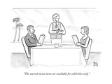 """The starred menu items are available for celebrities only."" - New Yorker Cartoon Premium Giclee Print by Paul Noth"
