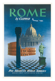 Rome, Italy by Clipper - Pan American World Airways (PAA) Giclee Print