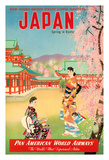 Japan - Spring in Kyoto - Pan American World Airways (PAA) Lámina giclée