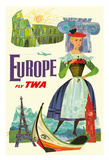 Europe - Trans World Airlines Fly TWA Giclee Print
