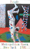 Harlequin from Parade Collectable Print by David Hockney