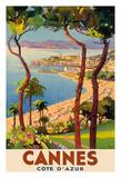 Cannes - Côte d'Azur, France - French Riviera Wydruk giclee autor Lucien Peri