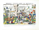 Bataille D'Esling- Mort De Montebello Collectable Print by  Pellerin