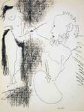 Painter and Model Collectable Print by Pablo Picasso
