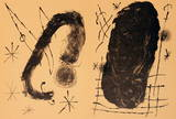Derriere le Miroir, no. 151-152, pg 18,19 (Double page) Collectable Print by Joan Miró