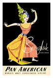 Bangkok, Thailand - Pan American Airlines (PAA) - Thai Woman Classical Dancer Giclee Print by A. Amspoker