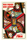 Las Vegas, Nevada - Trans World Airlines Fly TWA - Queen Playing Card Giclee Print