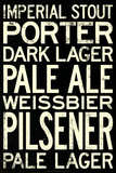 Beer Types and Styles Poster Prints