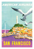 San Francisco, California - American Airlines - Coit Tower Giclee Print by John Fernie