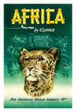 Africa by Clipper - Pan American World Airways (PAA) - African Cheetah Giclée-tryk