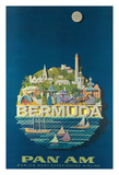 Bermuda - Pan American Airlines Giclee Print by Ray Ameijide