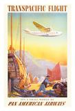 Transpacific Flight - Pan American Airways (PAA) - It's A Small World Wydruk giclee autor Paul George Lawler