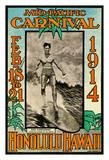 1914 Mid-Pacific Carnival - Honolulu - Featuring Duke Kahanamoku, Champion Swimmer of the World Giclee Print