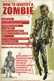 How To Identify a Zombie by Retro-A-Go-Go Poster Photo