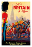 Fly To Britain By Clipper - Pan American World Airways (PAA) - British Royal Procession Giclee Print by M. Von Arenburg