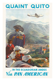 Quaint Quito - In The Ecuadorian Andes - Via Pan American Airlines (PAA) - Native Quichua Indians Giclée-Druck von Paul George Lawler