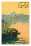 Turkey, En Méditerranée Par Les Messageries Maritimes Shipping Company - Bosphorus Turkey Giclee Print by Gilbert Galland