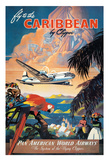 Fly to the Caribbean by Clipper - Pan American World Airways (PAA) Lámina giclée por M. Von Arenburg