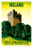 Ireland - Irish Castle - Pan American Airlines (PAA) Giclee Print by E. McKnight Kauffer