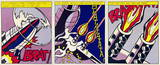 As I Opened Fire (Triptych) Collectable Print by Roy Lichtenstein