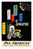 Singapore - Pan American Airlines (PAA) Wydruk giclee autor A. Amspoker