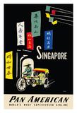 A. Amspoker - Singapore - Pan American Airlines (PAA) Digitálně vytištěná reprodukce