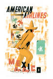 Mexico - American Airlines - Bird Cage Vendor Giclee Print by E. McKnight Kauffer