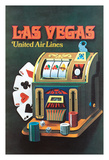 Las Vegas, Nevada - United Air Lines - Slot Machine Giclee Print