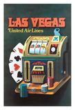 Las Vegas, Nevada - United Air Lines - Slot Machine Giclee Print