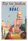 Fly to India by BOAC - British Overseas Airways Corporation Giclee Print