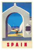 Madrid, Spain - Spanish State Tourist Department - Boat And Fisherman Giclée-tryk af Guy Georget